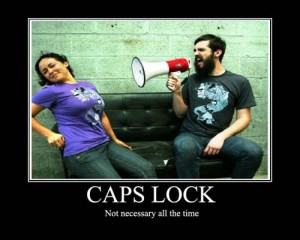 caps lock not necessary all the time